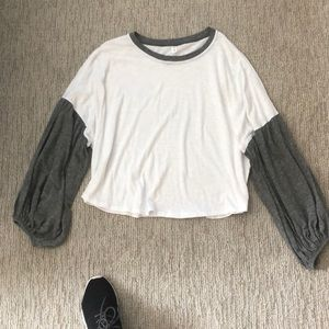 White and grey long sleeve shirt from Nordstrom's